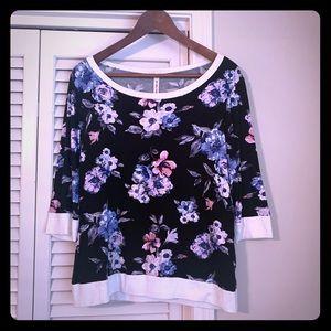 Floral banded shirt